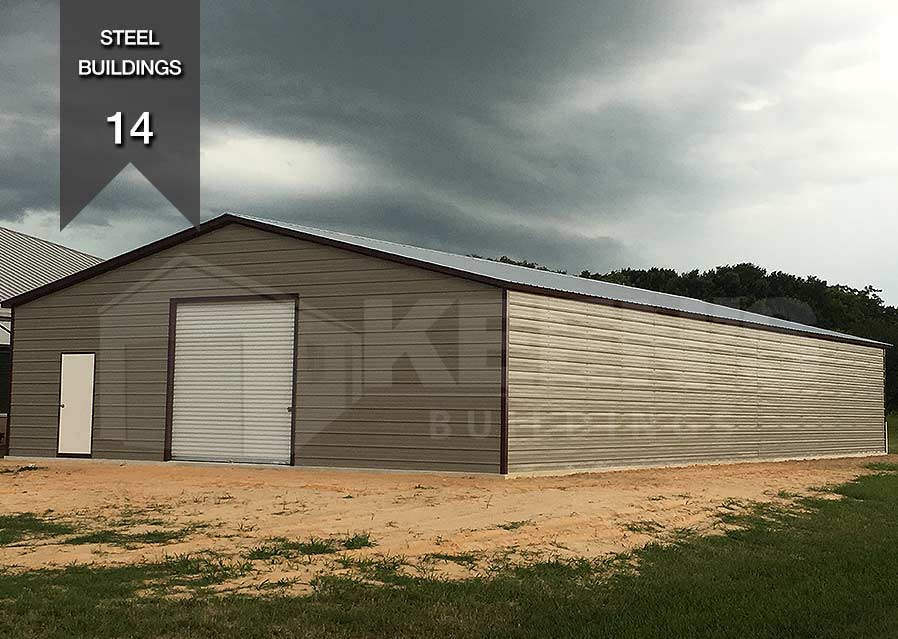 Steel Building Kb 14 30x100x12 10x10 Door 36x80 Door